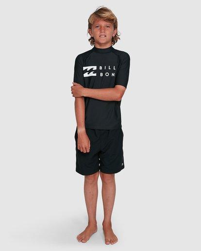 5 Boys Union Regular Fit Short Sleeve Rash Vest Black 8703000 Billabong