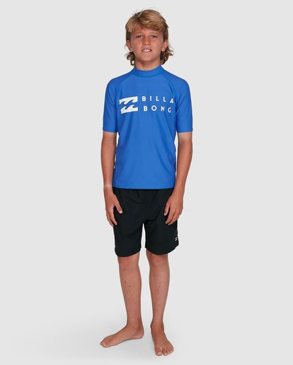 5 Boys Union Regular Fit Short Sleeve Rash Vest Blue 8703000 Billabong