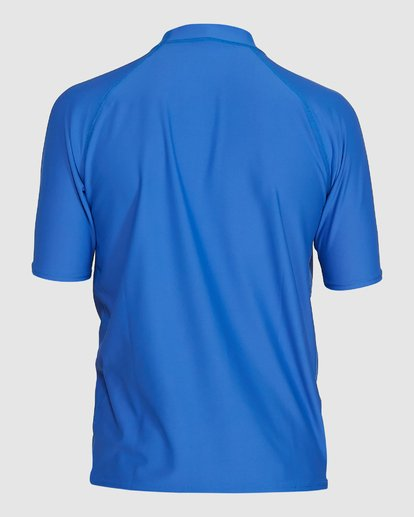 2 Boys Union Regular Fit Short Sleeve Rash Vest Blue 8703000 Billabong