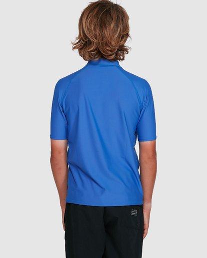 8 Boys Union Regular Fit Short Sleeve Rash Vest Blue 8703000 Billabong