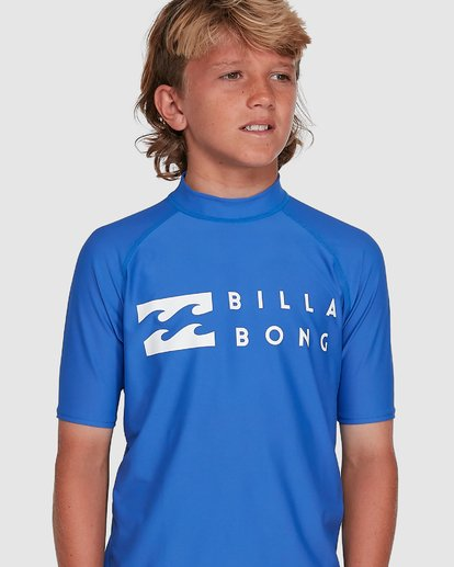 3 Boys Union Regular Fit Short Sleeve Rash Vest Blue 8703000 Billabong