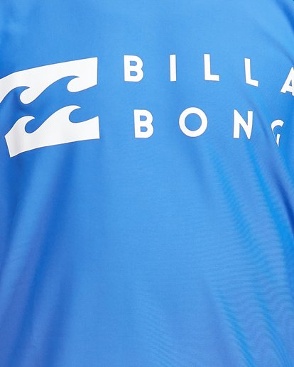 10 Boys Union Regular Fit Short Sleeve Rash Vest Blue 8703000 Billabong