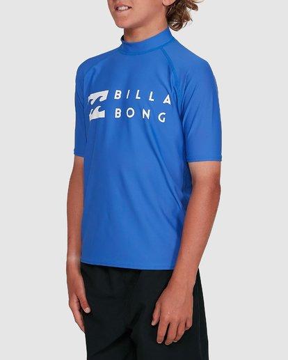 1 Boys Union Regular Fit Short Sleeve Rash Vest Blue 8703000 Billabong