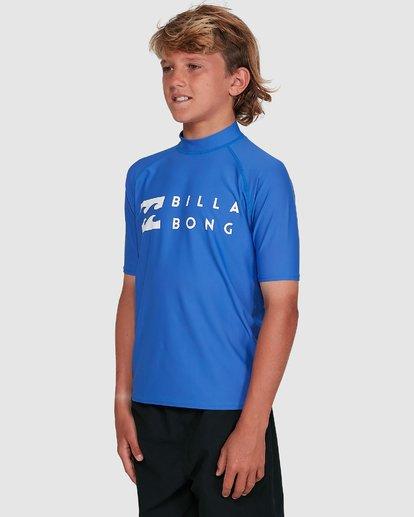 7 Boys Union Regular Fit Short Sleeve Rash Vest Blue 8703000 Billabong