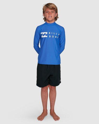5 Boys Union Regular Fit Long Sleeve Rash Vest Blue 8703001 Billabong