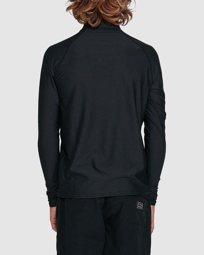 2 Boys Union Regular Fit Long Sleeve Rash Vest Black 8703001 Billabong