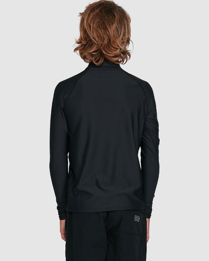 8 Boys Union Regular Fit Long Sleeve Rash Vest Black 8703001 Billabong