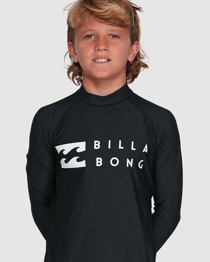 3 Boys Union Regular Fit Long Sleeve Rash Vest Black 8703001 Billabong