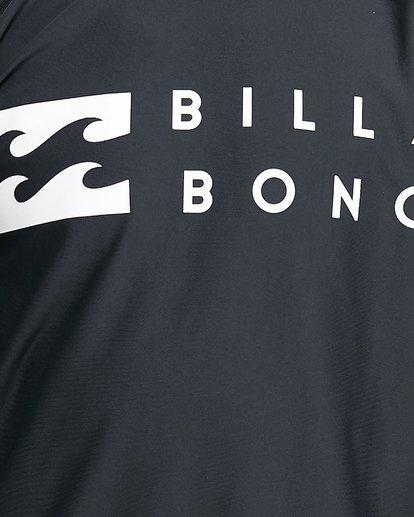 4 Boys Union Regular Fit Long Sleeve Rash Vest Black 8703001 Billabong