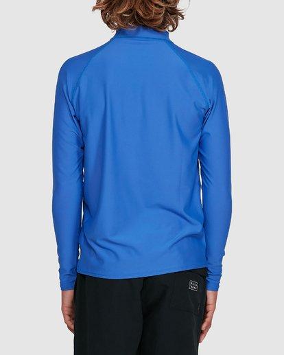 2 Boys Union Regular Fit Long Sleeve Rash Vest Blue 8703001 Billabong