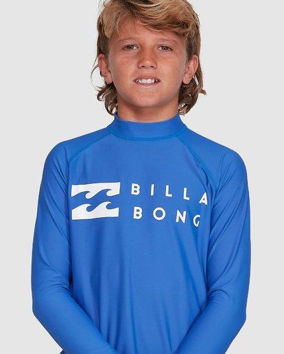 3 Boys Union Regular Fit Long Sleeve Rash Vest Blue 8703001 Billabong