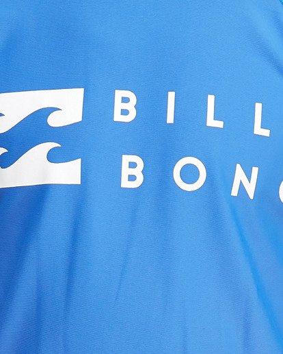 4 Boys Union Regular Fit Long Sleeve Rash Vest Blue 8703001 Billabong