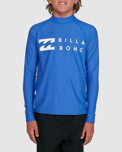 0 Boys Union Regular Fit Long Sleeve Rash Vest Blue 8703001 Billabong