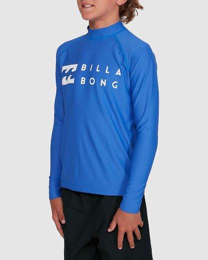 1 Boys Union Regular Fit Long Sleeve Rash Vest Blue 8703001 Billabong