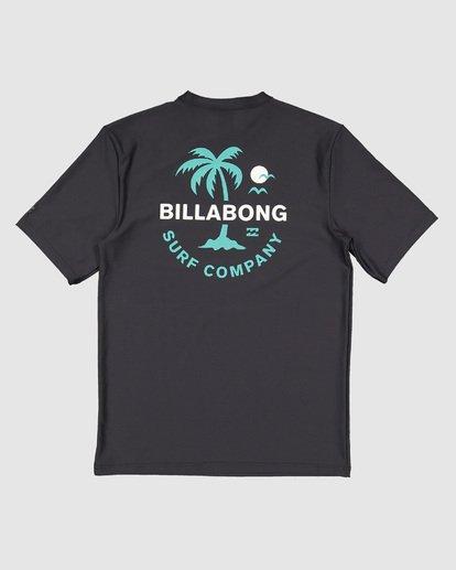 7 Boys Vacation Loose Fit Short Sleeve Rashie Black 8703002 Billabong