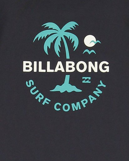 11 Boys Vacation Loose Fit Short Sleeve Rash Vest Black 8703002 Billabong