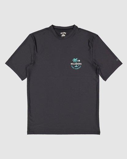 6 Boys Vacation Loose Fit Short Sleeve Rashie Black 8703002 Billabong