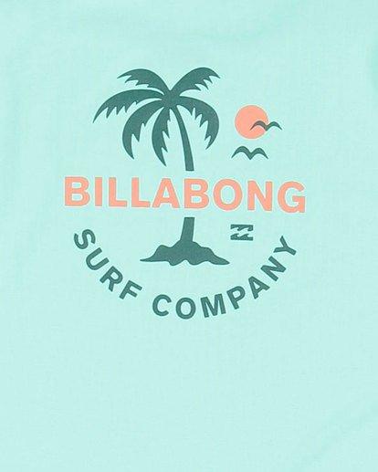 11 Boys Vacation Loose Fit Short Sleeve Rash Vest Blue 8703002 Billabong