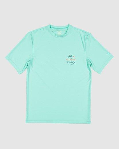 9 Boys Vacation Loose Fit Short Sleeve Rash Vest Blue 8703002 Billabong