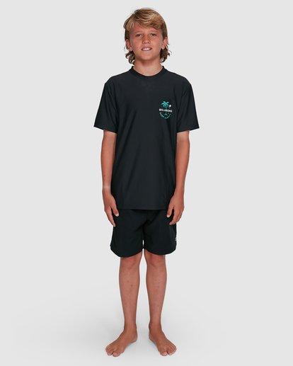 9 Boys Vacation Loose Fit Short Sleeve Rashie Black 8703002 Billabong