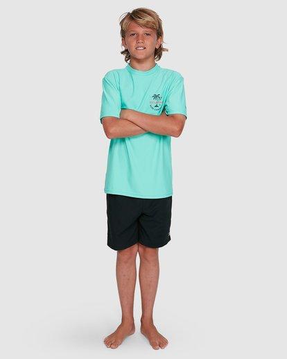 9 Boys Vacation Loose Fit Short Sleeve Rashie Blue 8703002 Billabong
