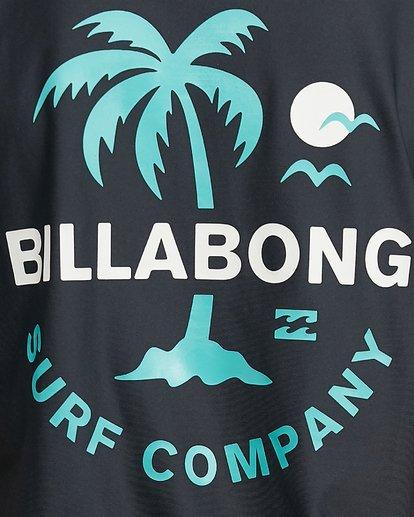 5 Boys Vacation Loose Fit Short Sleeve Rashie Black 8703002 Billabong