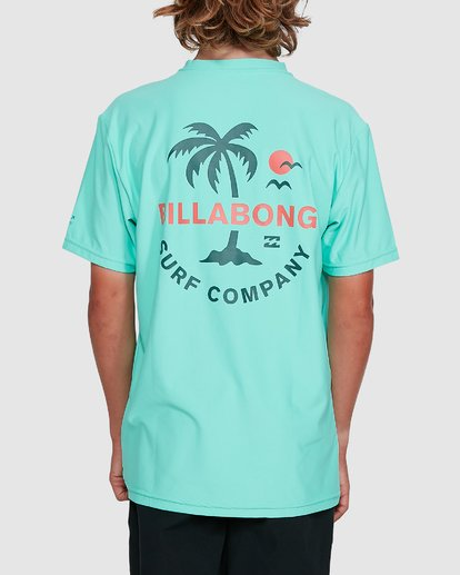 3 Boys Vacation Loose Fit Short Sleeve Rash Vest Blue 8703002 Billabong