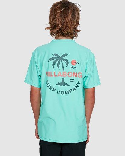 6 Boys Vacation Loose Fit Short Sleeve Rash Vest Blue 8703002 Billabong