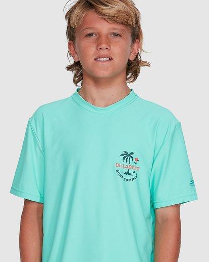 7 Boys Vacation Loose Fit Short Sleeve Rash Vest Blue 8703002 Billabong