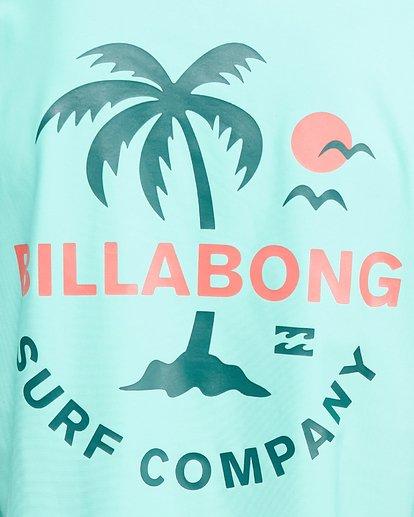 8 Boys Vacation Loose Fit Short Sleeve Rash Vest Blue 8703002 Billabong