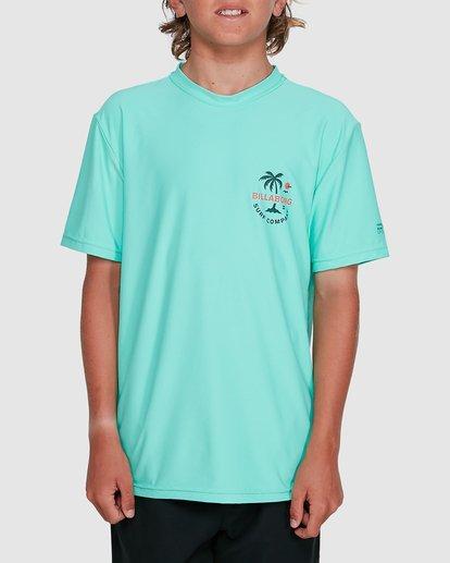 1 Boys Vacation Loose Fit Short Sleeve Rashie Blue 8703002 Billabong