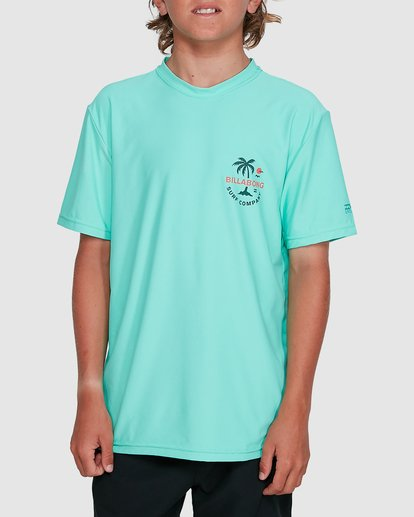 0 Boys Vacation Loose Fit Short Sleeve Rashie Blue 8703002 Billabong