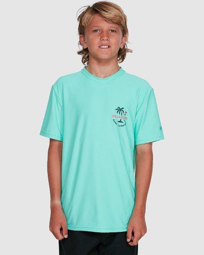 4 Boys Vacation Loose Fit Short Sleeve Rash Vest Blue 8703002 Billabong