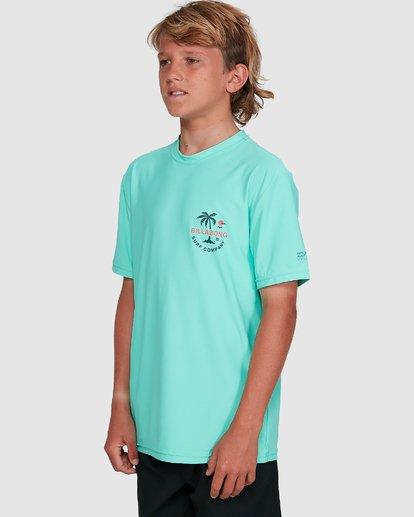 5 Boys Vacation Loose Fit Short Sleeve Rash Vest Blue 8703002 Billabong
