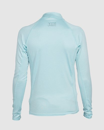 2 Boys All Day Wave Performance Fit Long Sleeve Rash Vest Blue 8703004 Billabong