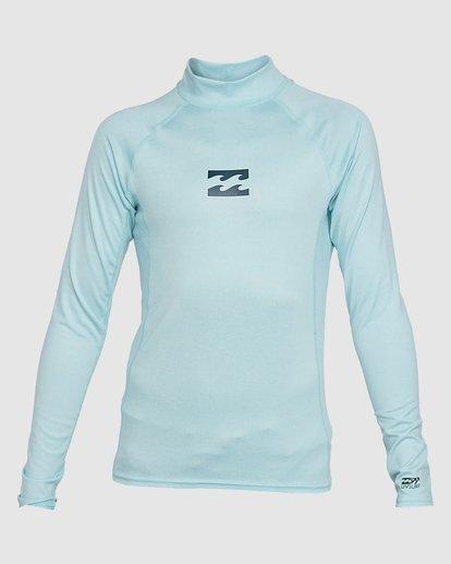 0 Boys All Day Wave Performance Fit Long Sleeve Rash Vest Blue 8703004 Billabong