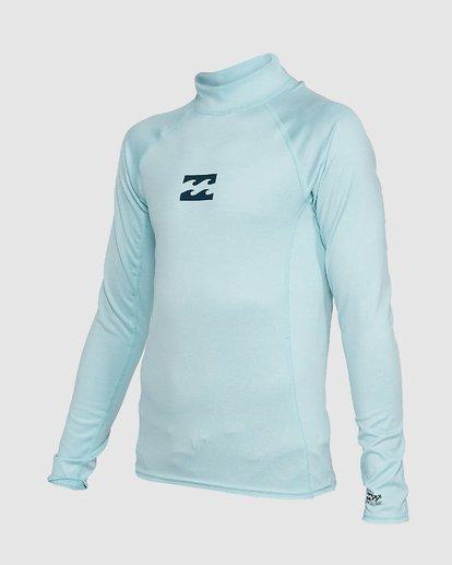 1 Boys All Day Wave Performance Fit Long Sleeve Rash Vest Blue 8703004 Billabong