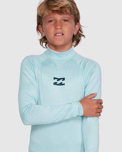 9 Boys All Day Wave Performance Fit Long Sleeve Rash Vest Blue 8703004 Billabong