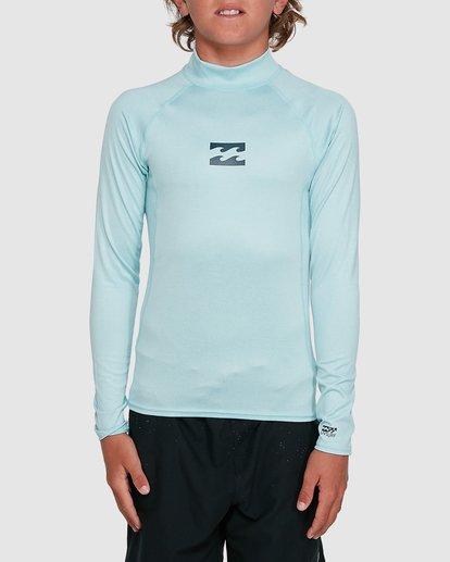 3 Boys All Day Wave Performance Fit Long Sleeve Rash Vest Blue 8703004 Billabong