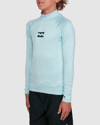 4 Boys All Day Wave Performance Fit Long Sleeve Rash Vest Blue 8703004 Billabong