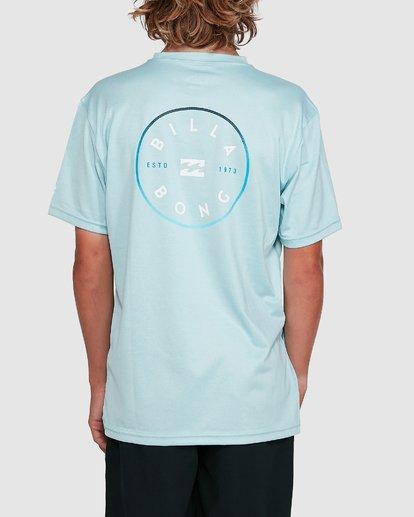 3 Boys Rotor Loose Fit Short Sleeve Rash Vest Blue 8703005 Billabong