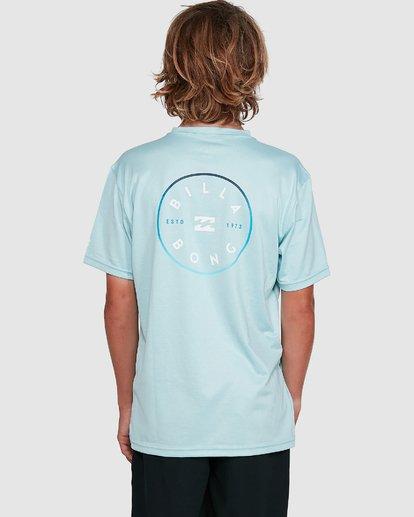 6 Boys Rotor Loose Fit Short Sleeve Rash Vest Blue 8703005 Billabong