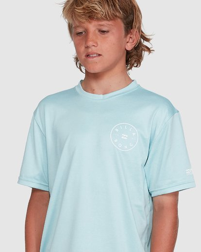 7 Boys Rotor Loose Fit Short Sleeve Rash Vest Blue 8703005 Billabong