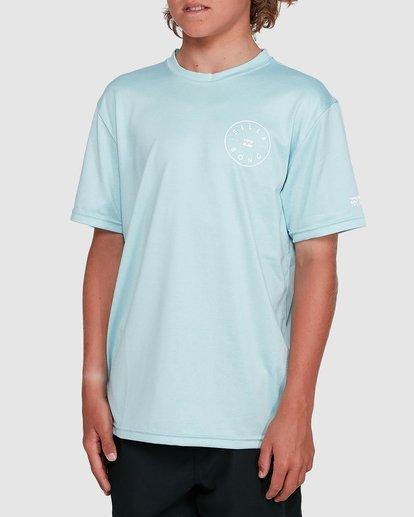 0 Boys Rotor Loose Fit Short Sleeve Rash Vest Blue 8703005 Billabong