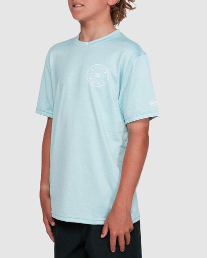 2 Boys Rotor Loose Fit Short Sleeve Rash Vest Blue 8703005 Billabong