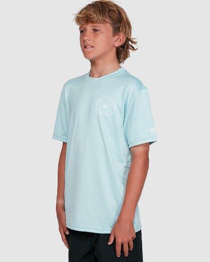 5 Boys Rotor Loose Fit Short Sleeve Rash Vest Blue 8703005 Billabong