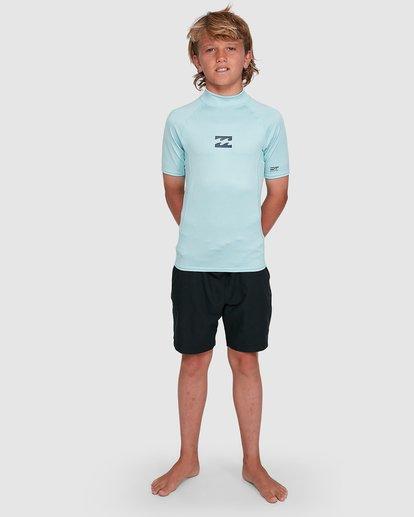 5 Boys All Day Wave Performance Fit Short Sleeve Rash Vest Blue 8703006 Billabong