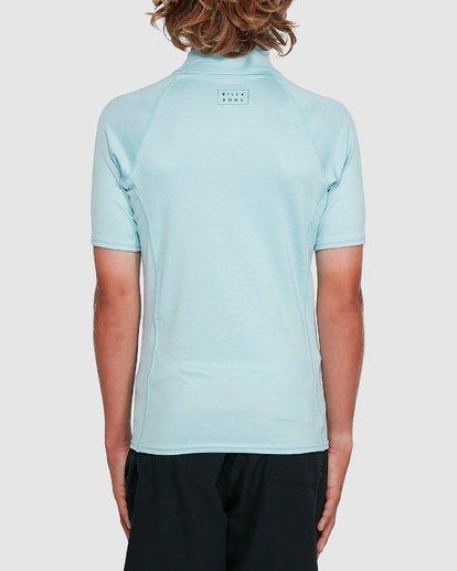 2 Boys All Day Wave Performance Fit Short Sleeve Rash Vest Blue 8703006 Billabong