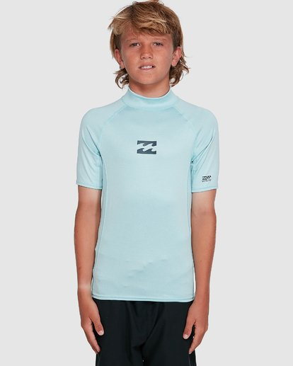 6 Boys All Day Wave Performance Fit Short Sleeve Rash Vest Blue 8703006 Billabong