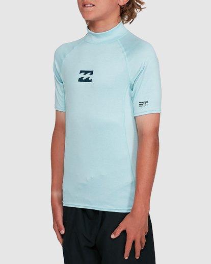 1 Boys All Day Wave Performance Fit Short Sleeve Rash Vest Blue 8703006 Billabong